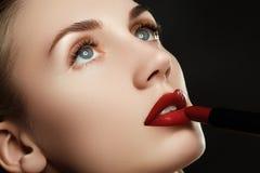 Губы красоты Красивые губы конец-вверх, отличная идея Стоковые Фото