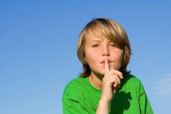 губы перстов Стоковая Фотография