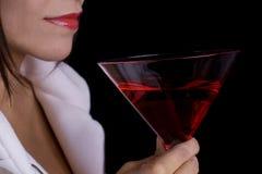 губы питья красные Стоковые Изображения