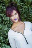 губы пурпуровые Стоковое Изображение