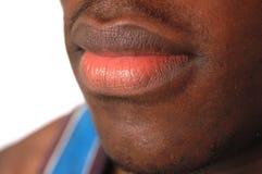 губы серьезные Стоковое Изображение