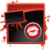 губы halftone знамени Стоковое Изображение