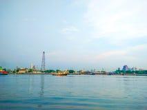 Гуж буксира на Chao Реке Phraya Стоковые Изображения