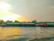 Гуж буксира на Chao Реке Phraya Стоковые Изображения RF