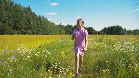 гулять девушки поля Стоковое Изображение RF