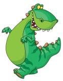 гулять динозавра иллюстрация вектора