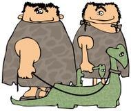 гулять динозавров иллюстрация вектора