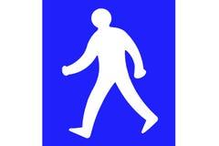 гулять знака человека Стоковые Фотографии RF