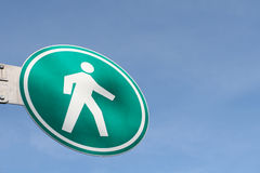 гулять знака Стоковое фото RF