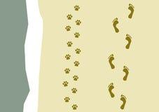 гулять картины собаки Стоковые Фото