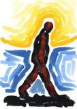 гулять картины человека иллюстрация вектора