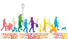 гулять места людей уклада жизни города урбанский иллюстрация вектора