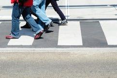 гулять пешеходов Стоковое Фото