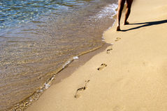 гулять пляжа Стоковое Изображение RF