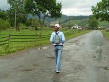 гулять проселочной дороги Стоковые Фотографии RF