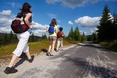 гулять семьи Стоковое Изображение RF