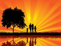 гулять семьи бесплатная иллюстрация