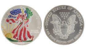 гулять серебра доллара покрашенный вольностью стоковое изображение