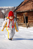 гулять снежка ребенка Стоковые Изображения RF