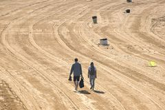 гулять vancouver положения jericho пар Канады пляжа Стоковые Фото