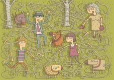 Гуляя игра лабиринта собак Стоковая Фотография RF