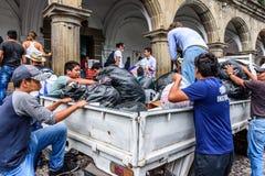 Гуманитарная помощь после извержения вулкана Fuego, Антигуа, Guatemal Стоковое фото RF