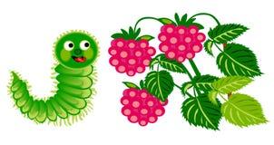 Гусеница и поленика Стоковые Фото