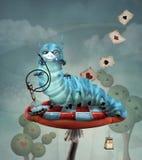 Гусеница с кальяном на грибе Стоковое Изображение RF