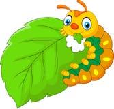 Гусеница шаржа есть лист бесплатная иллюстрация