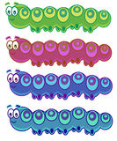 гусеницы смешные иллюстрация вектора