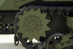 Гусеницы танка закрывают вверх Стоковые Изображения