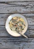 Густой суп Clam Стоковые Изображения RF