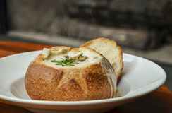 Густой суп Clam Стоковые Фото
