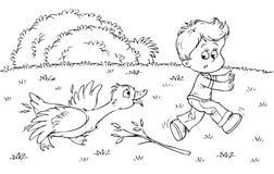 гусына мальчика бесплатная иллюстрация