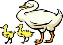 Гусына матери и 2 гусят бесплатная иллюстрация