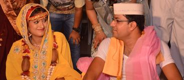 Гуджарати Wedding стоковое изображение rf