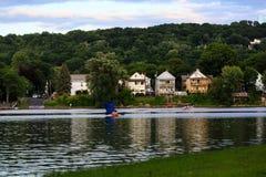 Гудзон и река Mohawk осматривают встречу на Ливингстоне NY Стоковая Фотография RF