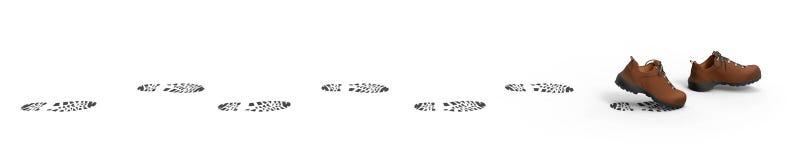 гулять ботинок Стоковое фото RF