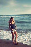 Гулять морем Стоковые Фото