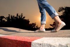 гулять дороги сельский Стоковая Фотография