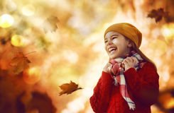 гулять парка девушки осени Стоковое Изображение RF