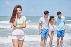 гулять пляжа Стоковая Фотография RF