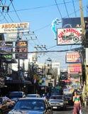 гулять улицы pattaya Стоковая Фотография
