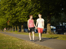 2 гуляя женщины Стоковое Изображение RF
