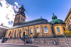Гётеборг, Швеция - 14-ое апреля 2017: Немецкая церковь Гётеборга Стоковое Фото