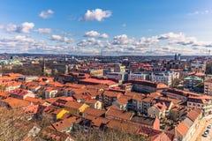 Гётеборг, Швеция - 14-ое апреля 2017: Панорама старого городка  Стоковое Изображение RF