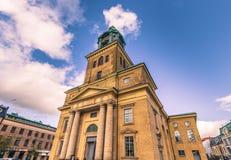 Гётеборг, Швеция - 14-ое апреля 2017: Собор Гётеборга, Sw Стоковые Фото