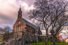 Гётеборг, Швеция - 14-ое апреля 2017: Часовня St Birgittas в полученный Стоковая Фотография RF