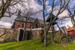Гётеборг, Швеция - 14-ое апреля 2017: Часовня St Birgittas в полученный Стоковое Фото