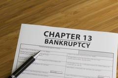 Глава 13 банкротства Стоковая Фотография RF